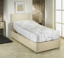 3ft Single Adjustable Electric Bed With 1500 Pocket Sprung Mattress & Headboard