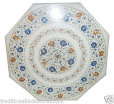 """30"""" Marble Center Coffee Table Top Rare Marquetry Inlay Mosaic Style Decor Arts"""