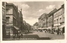 Brandenburg, Hauptstraße mit HO-Kaufhaus, Fahrrad, Auto, alte Foto-Ansichtskarte