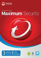 Trend Micro Maximum Security 11 (2017) | 1 Year Licence | 3 PCs