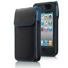iPhone 4 4S 4G Belkin Leather Verve Sleeve Case Pouch Black Blue