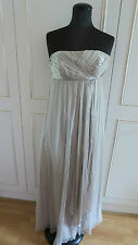 Monsoon maxi silk strapless women's wedding party dress sz  UK10EU38US6