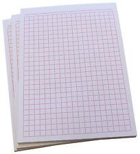 10x Notizblock kariert-karierte Blocks DIN A6-80g/m² Offset -  in Pink (22392)