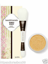 bareMinerals REDNESS REMEDY Face Powder & Brush New SEALED IN BOX Bare Minerals