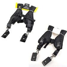 Quick Rapid Camera Double Dual Shoulder Sling Belt Black Neck Strap for DSLR