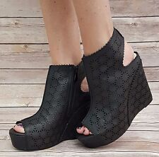 Ladies Slingback Wedge Ankle Boots Size 5 BNIB