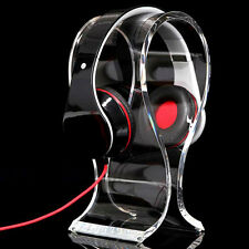 Transparent Acrylic Headphone Stand Headset Holder Earphone Desk Display Hanger