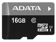 16GB A-Data Turbo microSDHC UHS-1 CL10 Memory Card w/SD adapter