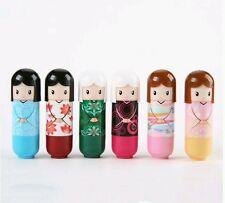 *uk* Set 6 kimono doll lip balm scented gloss lipstick beauty Christmas stocking