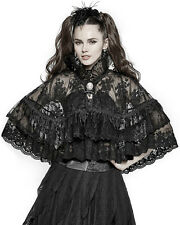 Punk Rave Pyon Lace Cape Shrug Cloak Black Gothic Lolita Cameo Steampunk Vintage