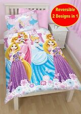 DISNEY PRINCESS DREAMS SINGLE DUVET QUILT COVER PINK KIDS GIRLS BED BEDDING SET