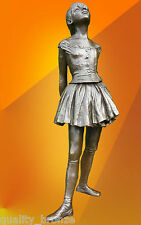 EDGAR DEGAS BALLERINA DANCER, SIGNED BRONZE STATUE FIGURE SCULPTURE FIGURINE