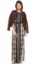 Alice by Temperley Black Botanical Maxi Dress Size 10    #