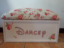 Personalised Handmade toy box storage Christmas Gift family Large Chest flower