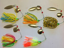 5 x 17g Spinner Baits Lures Double Blade Flasher Yellowbelly Cod Perch