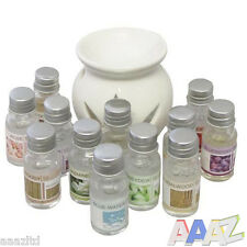 Ceramic Oil Burner & 12 Scents Tea Light Fragrance Tart Aromatherapy Scents Home