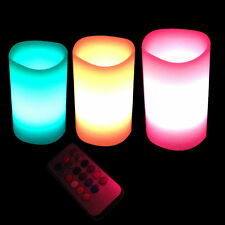 3x Flameless LED Candles Wax with Remote Color Gradual Changing Wedding Festival