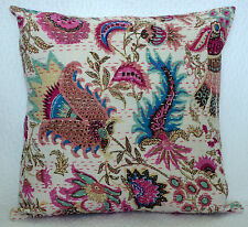 """16"""" INDIAN CUSHION PILLOW COVERS KANTHA THROW Ethnic Decorative India Decor"""