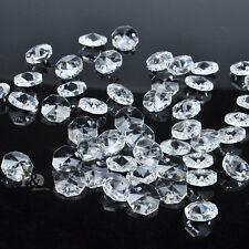 20XClear Crystal Glass Chandelier Part Prisms Octagonal Beads Decor 14M Hot FT