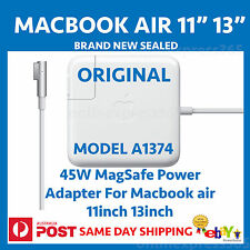 "Apple 45W MagSafe Power Adapter charger for Macbook air 11"" 13"" A1374 SEALED NEW"