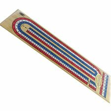 CRIBBAGE Three track Coloured Wooden Classic Board Game Set - Card Man Cave