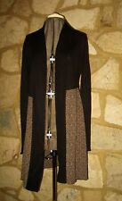 EAST LADIES SIZE 8 BLACK OPEN FRONT LONG CARDIGAN