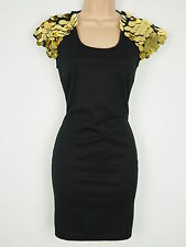 BNWT Rare Sequin Shoulder Bodycon Wiggle Dress Size 12 Stretchy RRP £49