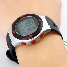 Waterproof Pulse Heart Rate Monitor Stop Watch Calories Counter Sports Fitness ~