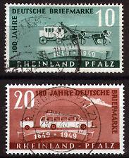 FZ Rheinland Pfalz 49-50, O, 100 Jahre Deutsche Briefmarken