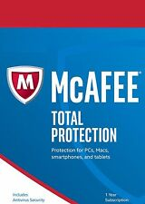 McAfee Total Protection 2017, 5 Multi-Devices, 1 Year (LATEST DOWNLOAD VERSION)