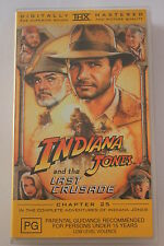 Indiana Jones and the Last Crusade -CLASSIC RARE VHS PAL  'AS NEW'