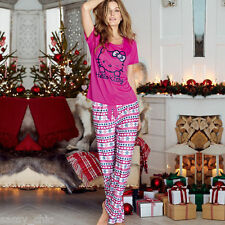 AVON Hello Kitty Fair Isle Long Leg Pyjamas size 8-10 New in Pack Ideal Gift (S)
