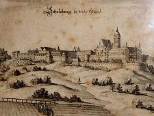 Radierung,Kupferstich, Schaleburg in Nieder-Österreich,Mathias Merian,1648