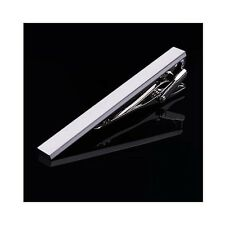 Simple Style 4 cm Mens Silver Stainless Steel Skinny Slim Tie Clip Clasp Bar