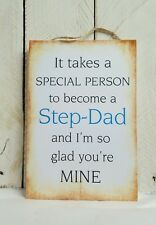 Handmade plaque sign gift present friends family step-dad dad funny christmas