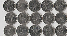 15 x Canadian 2010 Vancouver Olympic 2009 Quarter 25 Cent Coin Canada Set