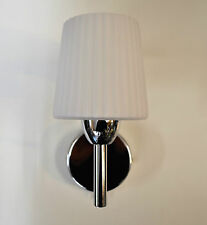 ENDON TOM CHROME SINGLE SWITCHED WALL LIGHT WITH GLASS SHADE EN 91191