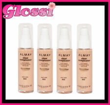 4 x ALMAY CLEAR COMPLEXION PUMP MAKEUP FOUNDATION ❤ 700 WARM ❤ GLOSSI AUSTRALIA