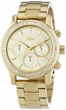 Lacoste 2000835 Charlotte Gold Dial Gold Tone Chronograph Women's Watch