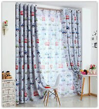 BLOCKOUT EYELET CURTAINS CAR AUTO TRUCK BUS BOY KIDS ROOM CURTAIN 180cm x 230cm
