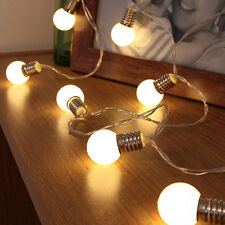10 LED Bulbs String Fairy Lights Battery Operated Wedding Home Party Shop Lamp