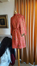 VINTAGE 60S BROCADE CLASSIC  MOD DOLLY DRESS METALLIC PARTY PROM COCKTAIL