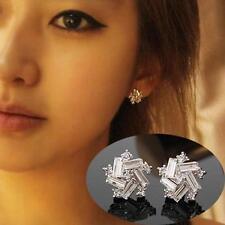 Prertty Women  Silver Plated Vintage Windmill Ear Stud Earrings New