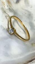 Gold Ring 585 17mm Gr. 54 mit Diamanten Goldschmuck Schmuck