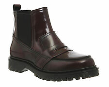 Womens Office Insomnia Burgundy Brush Leather Boots - Uk Size 6 * Ex Display