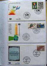 UNO Wien   FDC - Sammlung Mi 12A - 219, 118 Stück  - siehe Beschreibung