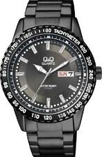 Q&Q A194-402Y By Citizen Stainless Steel Black Dial Analog Casual Men's Watch