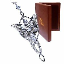 Official Lord of the Rings Arwen Evenstar Sterling Silver Necklace - Boxed Noble