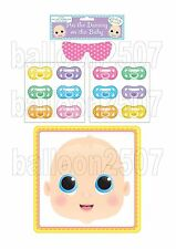 BABY SHOWER PARTY GAME PIN THE DUMMY PACIFIER ON BABY FOR 12 GUESTS