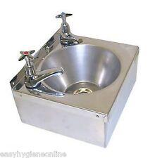 Stainless Steel HAND WASH BASIN Sink + TAPS & Waste Inc
